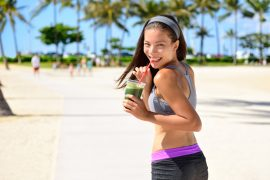 Green detox cleanse vegetable smoothie sport woman