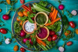 Veggie crudite platter