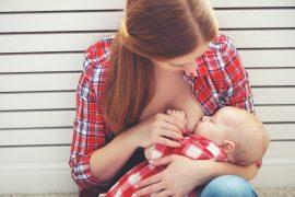breastfeeding. mother breast feeding baby