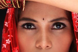 Eastern girl close up