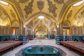 Kashan, Iran - December 9, 2015: Sultan Amir Ahmad historic bath, Kashan, Iran