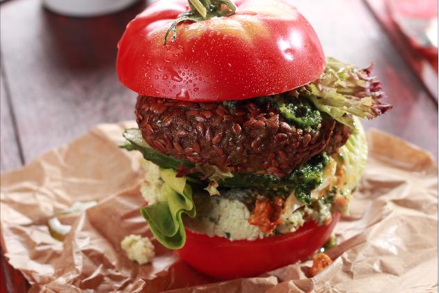 гамбургер из помидора