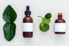 Alternative health care fresh  kaffir llime leaves and oils on m