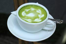 Matcha tea art