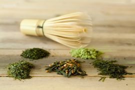 Bamboo whisk and green tea