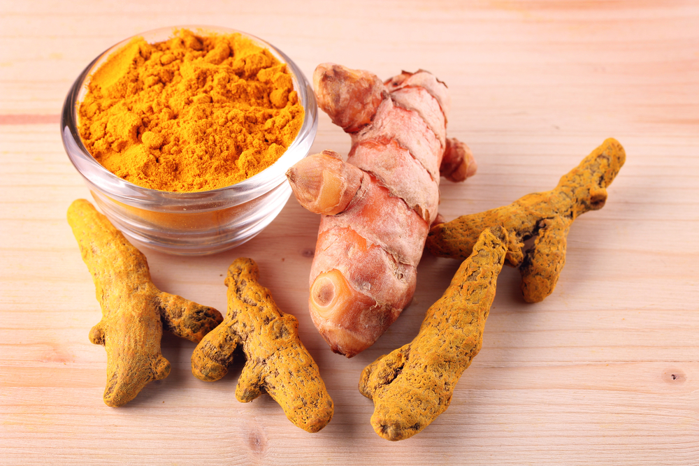 Fresh, dried and powdered turmeric root