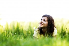 Pretty girl smiling