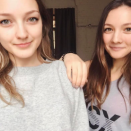 Лена и Настя Костюхины